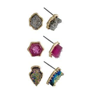 Jewelry - Rock Stud Earrings